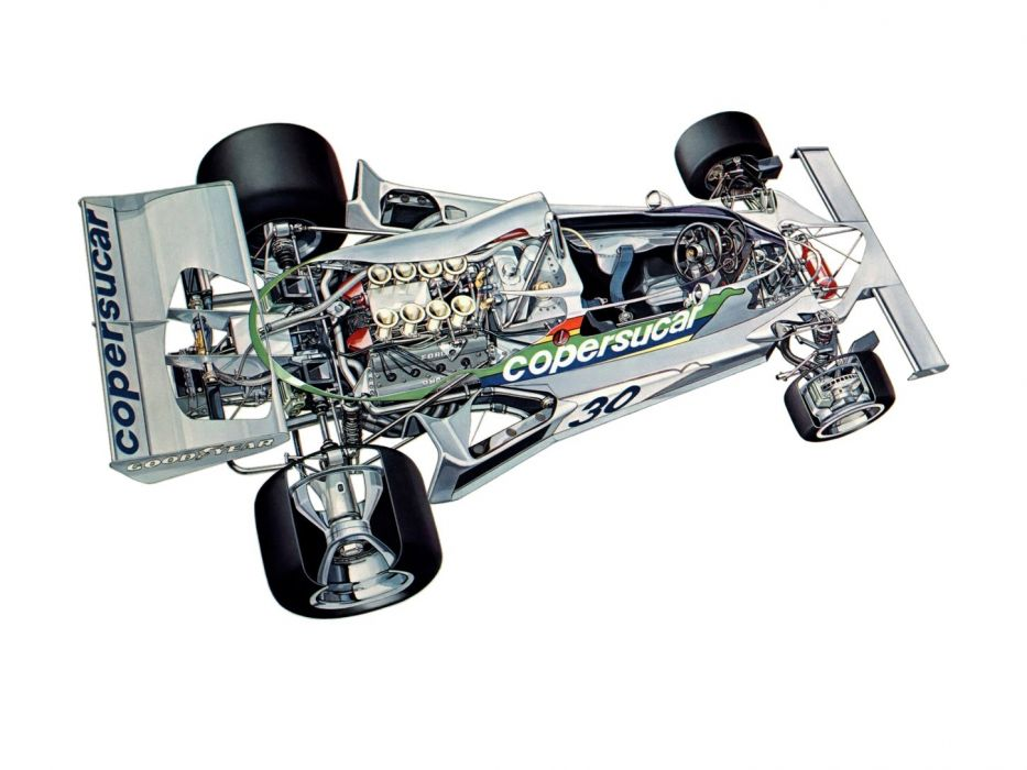 formula one sportcars cutaway technical Copersucar Fittipaldi FD03 1975 wallpaper