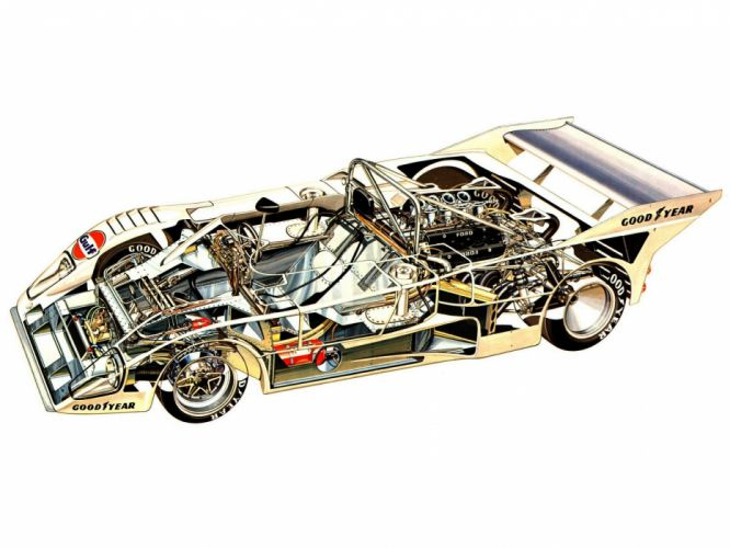 sportcars cutaway technical cars Lola T286 wallpaper