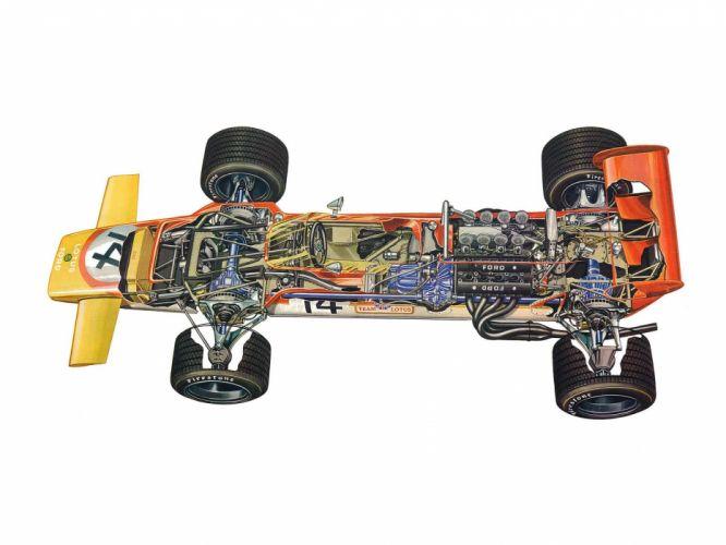 formula one sportcars cutaway technical Lotus-63 1969 wallpaper