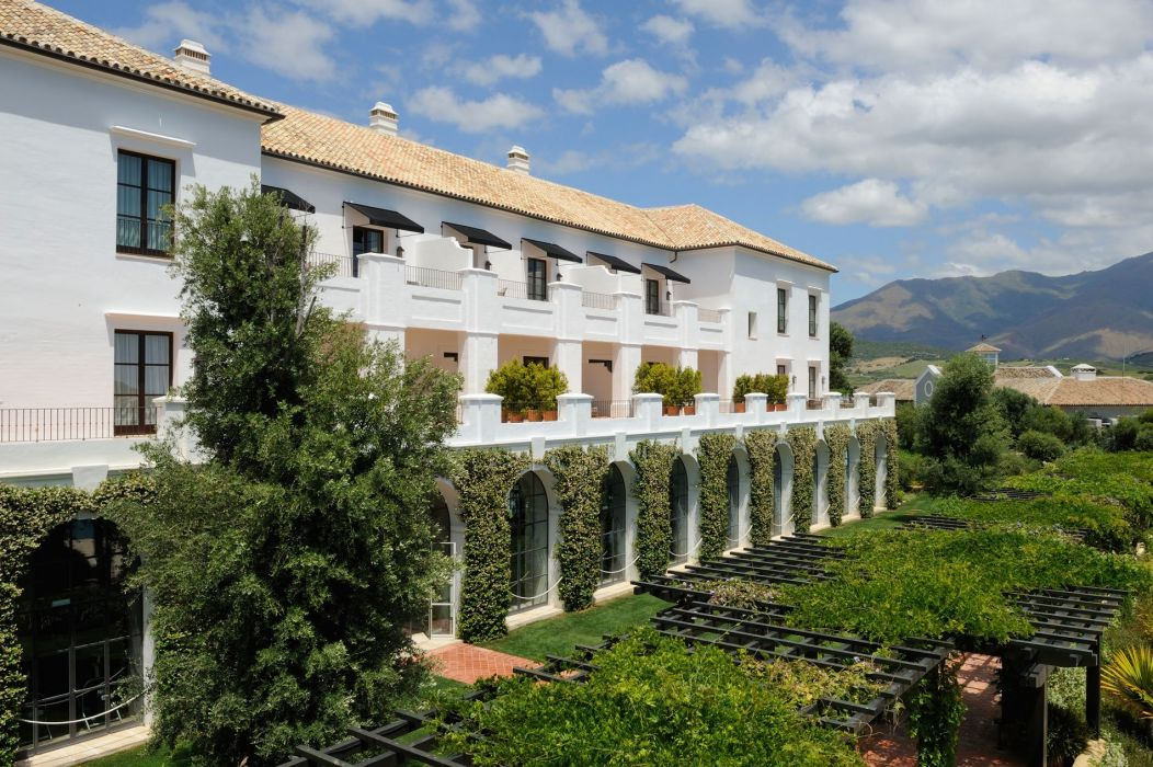 cortijo andaluz jardin arcos wallpaper