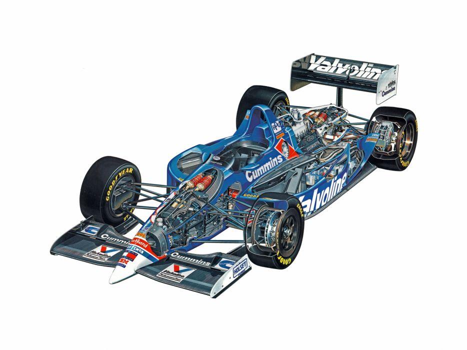 indy cars sportcars cutaway technical Lola T94-00 1994 wallpaper