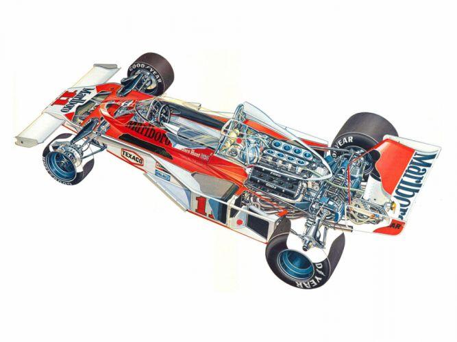 formula one sportcars cutaway technical McLaren M23B 1976 wallpaper