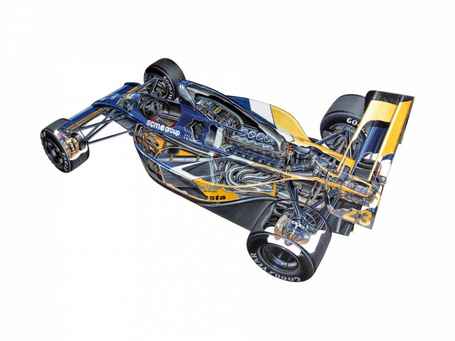 formula one sportcars cutaway technical Minardi M191 1991 wallpaper