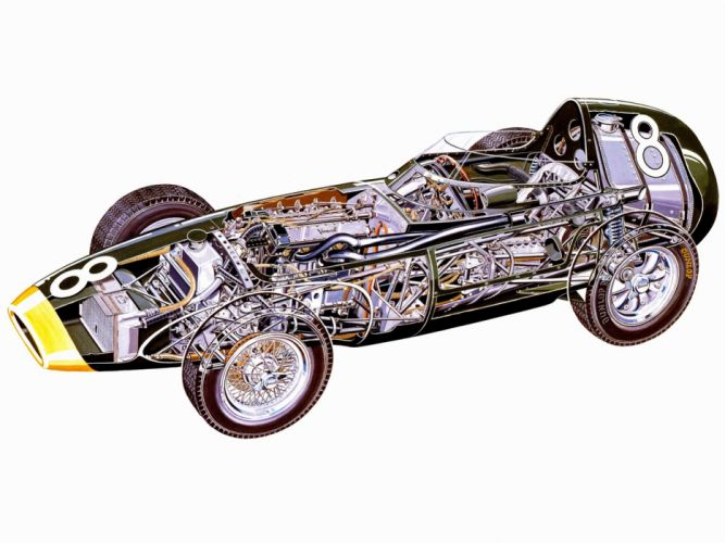 formula one sportcars cutaway technical cars Vanwall VW58 1958 wallpaper