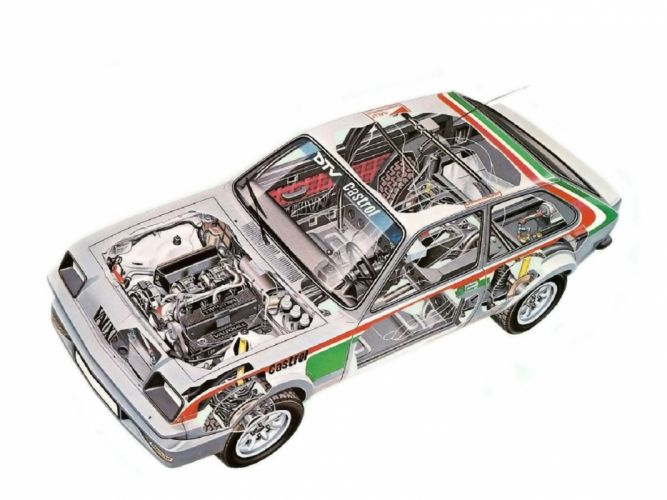sportcars cutaway technical rally cars Vauxhall Chevette 2300-HS 1979 wallpaper