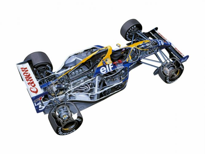 formula one sportcars cutaway technical Williams FW14 1991 wallpaper