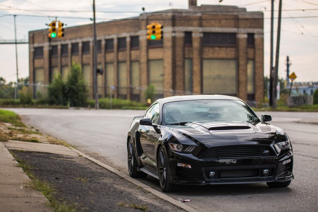 2015 Roush Stage-2 mustang modified black wallpaper