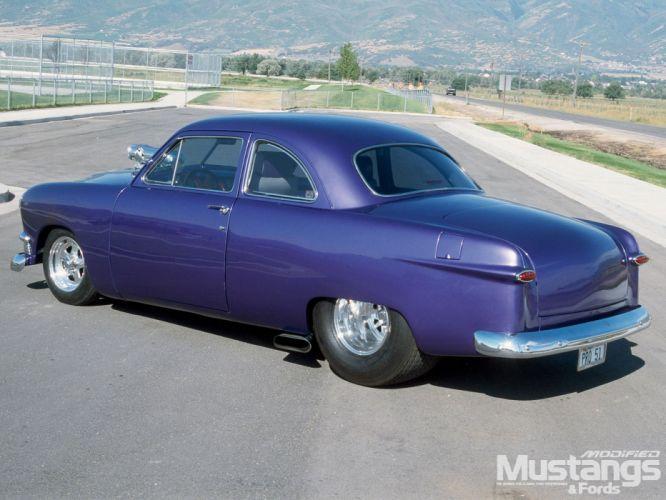 1951 ford 2 door coupe+ left quarter wallpaper