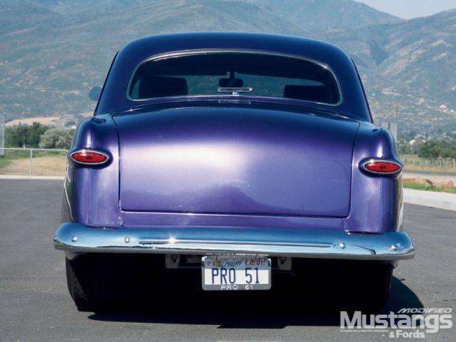 1951 ford 2 door coupe+ rear quarter wallpaper