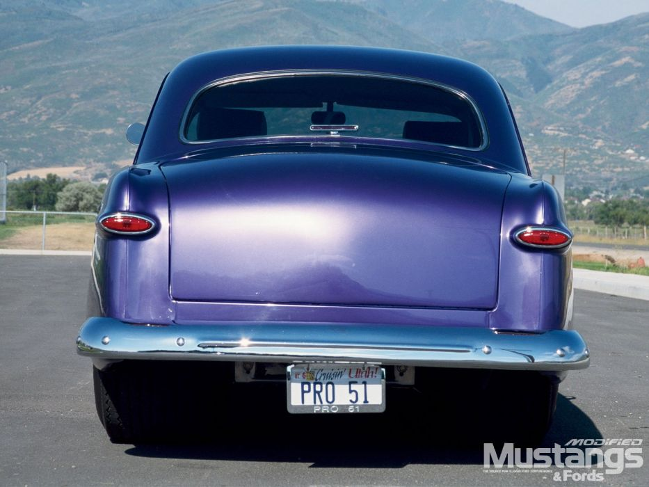 1951 ford 2 door coupe+ rear quarter wallpaper