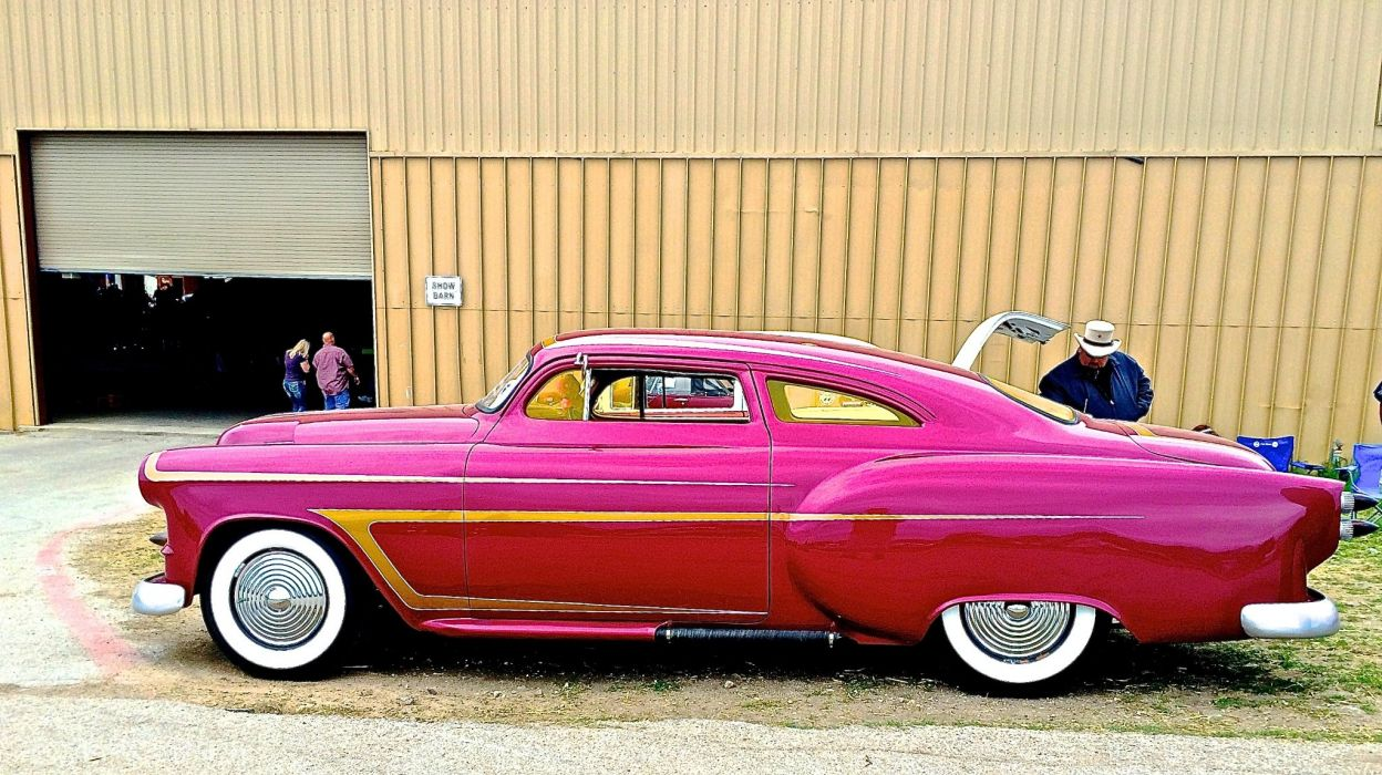 1953 Chevrolet Chevy Coupe Custom Kustom Chopped Top Hot USA 20480x1330-02 wallpaper