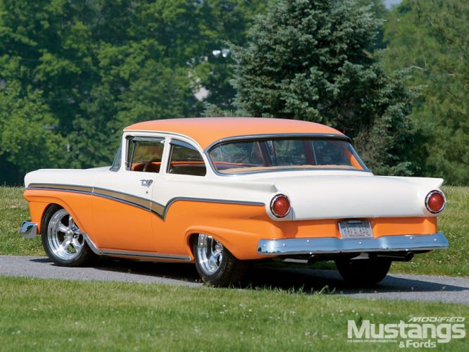 1957 Ford Custom 300 Sedan Street Rod Rodder Hot USA 1600x1200-01 wallpaper