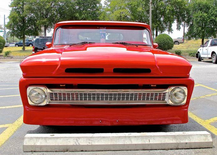 1966 Chevrolet Chevy Pickup Rod Custom Chopped Top Red USA 2640x1898-01 wallpaper