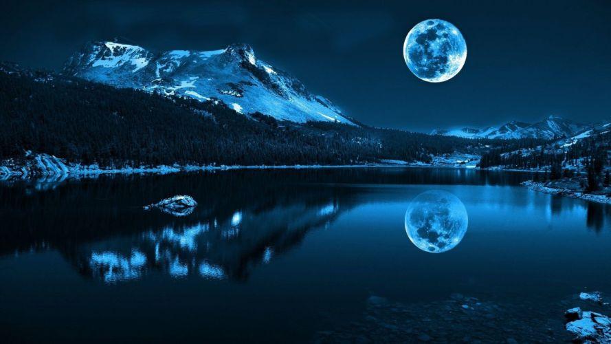full moon sky beauty wallpaper