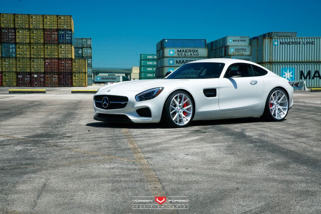 vossen WHEELS GALLERY Mercedes Benz AMG GTS cars tuning white wallpaper