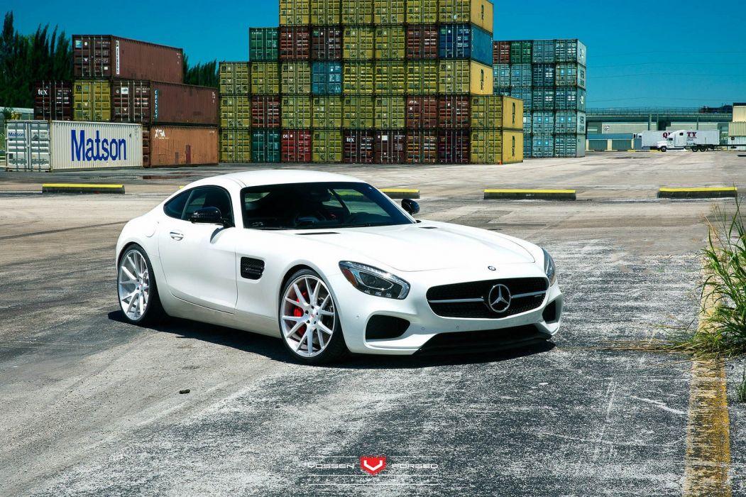 vossen WHEELS GALLERY Mercedes Benz AMG GTS cars tuning white wallpaper