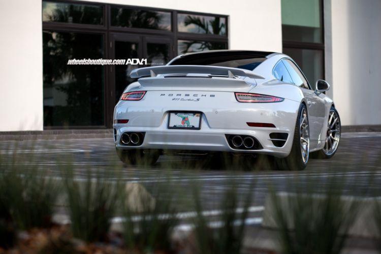 adv & WHEELS GALLERY Porsche 991 Turbo-S cars tuning white wallpaper