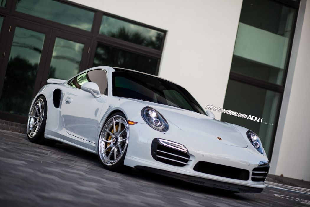 adv & WHEELS GALLERY Porsche 991 Turbo-S cars tuning white wallpaper