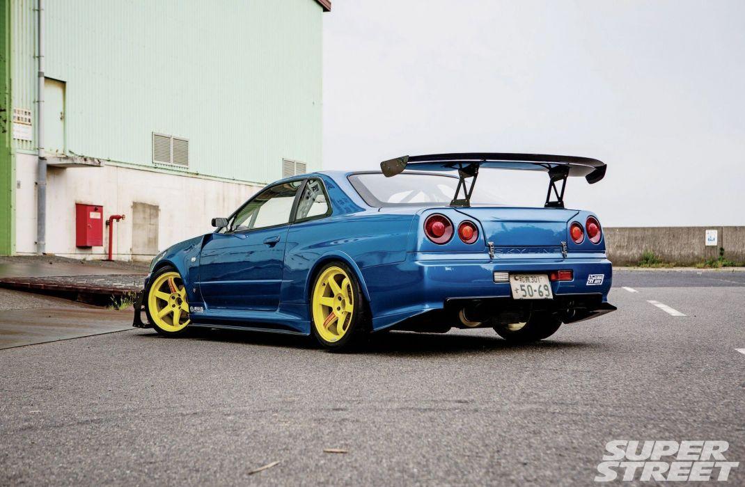 999 Nissan Skyline Gtr Blue Modified Cars Wallpaper 2048x1340