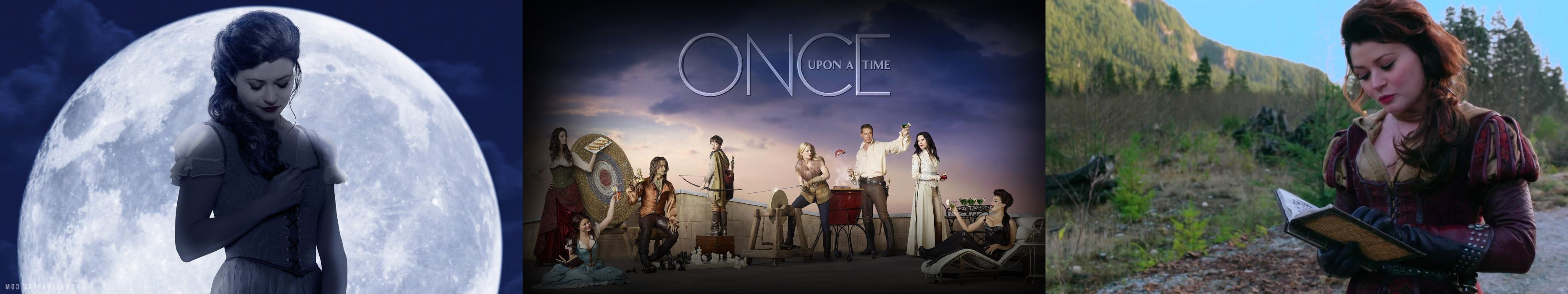 wallpaper tiple three multi multiple monitor screen tv television serie once upon a time il etait une fois wallpaper