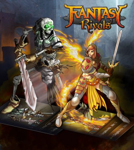 FANTASY RIVALS online fantasy trading card mmo tcg 1frivals strategy action fighting warrior wallpaper