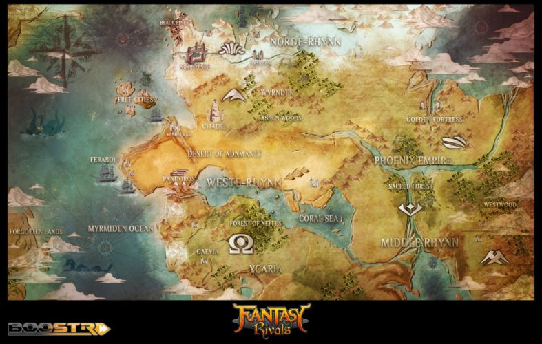 FANTASY RIVALS online fantasy trading card mmo tcg 1frivals strategy action fighting map wallpaper