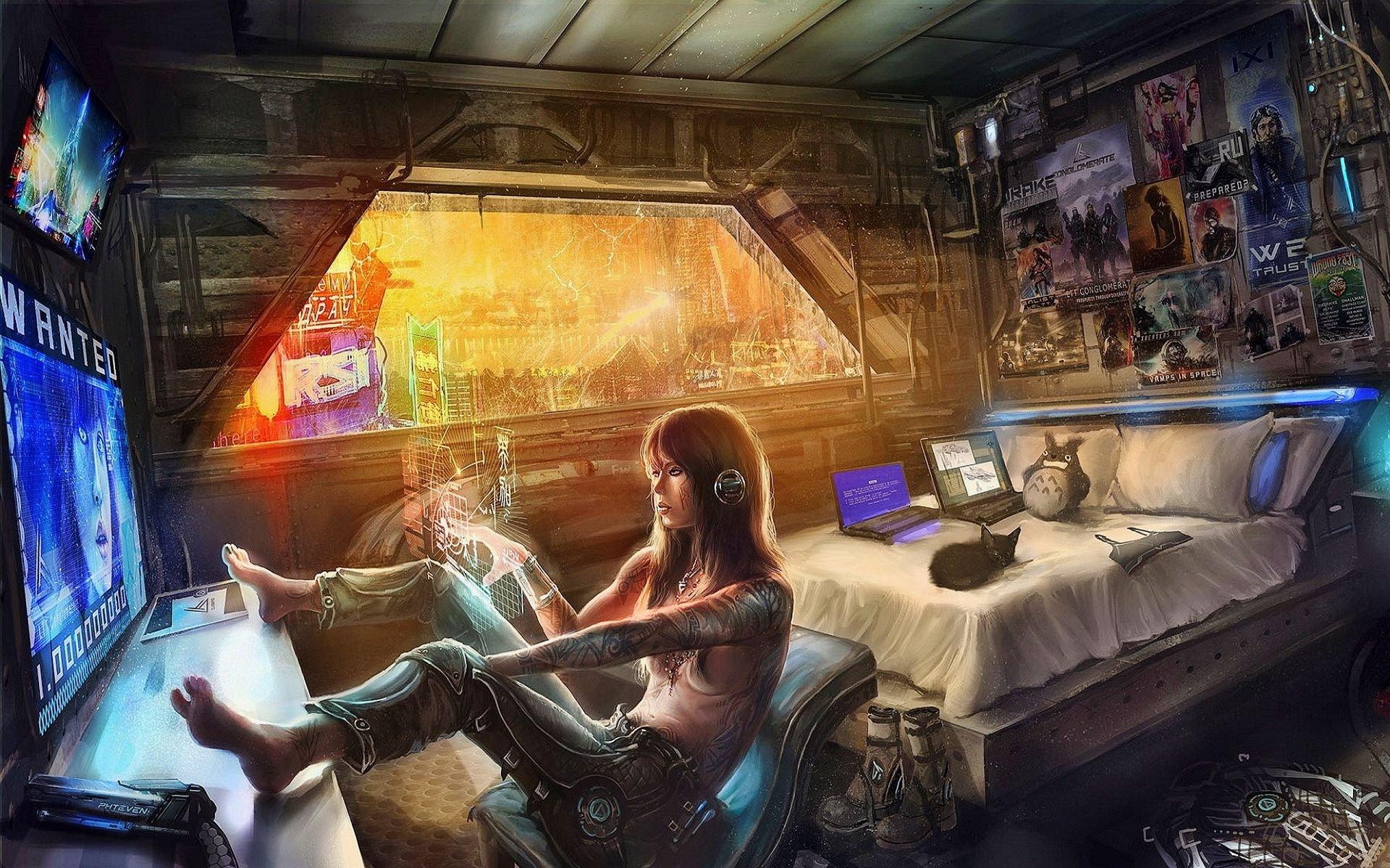 Cyberpunk Room Decor