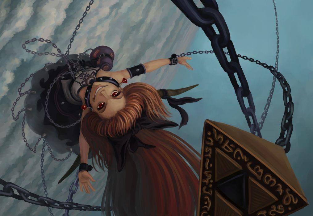 anime girl fantasy long hair wallpaper