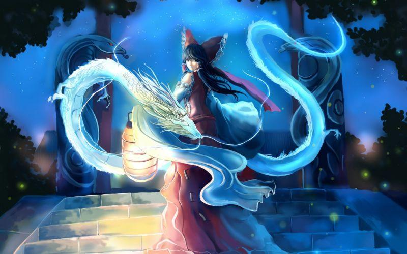 anime girl dress magic wallpaper