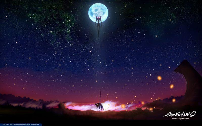 neon-genesis-evangelion-sky stars stars anime series wallpaper