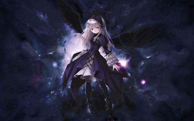 angel wings anime girl beautiful wallpaper