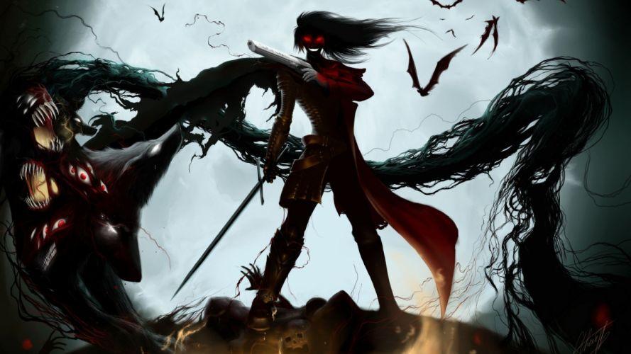 hellsing monster anime series wallpaper