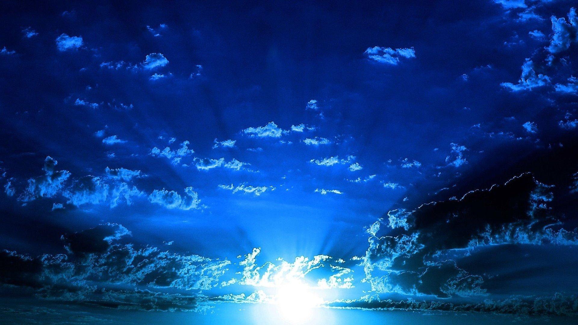 Amazing blue sky beautiful cloud wallpaper   1920x1080 ... - photo#9