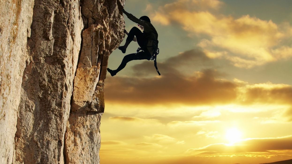 climber sun mountain sky cloud sport people wallpaper