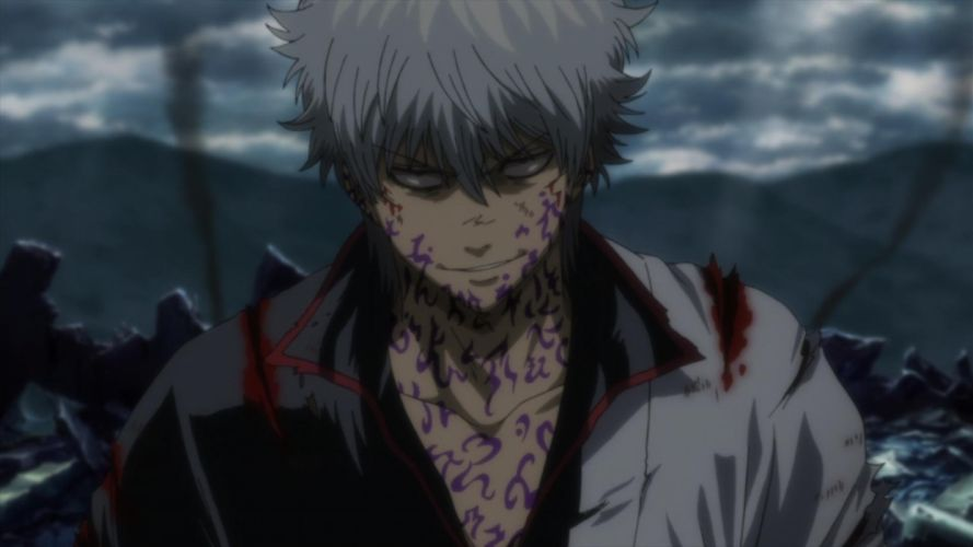 gintama anime series guy blood wallpaper