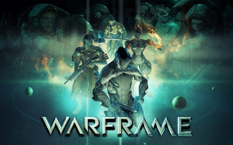 WARFRAME warrior shooter sci-fi robot wallpaper
