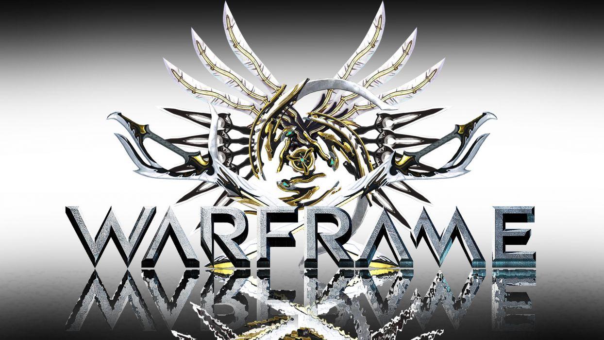 WARFRAME warrior shooter sci-fi robot wallpaper