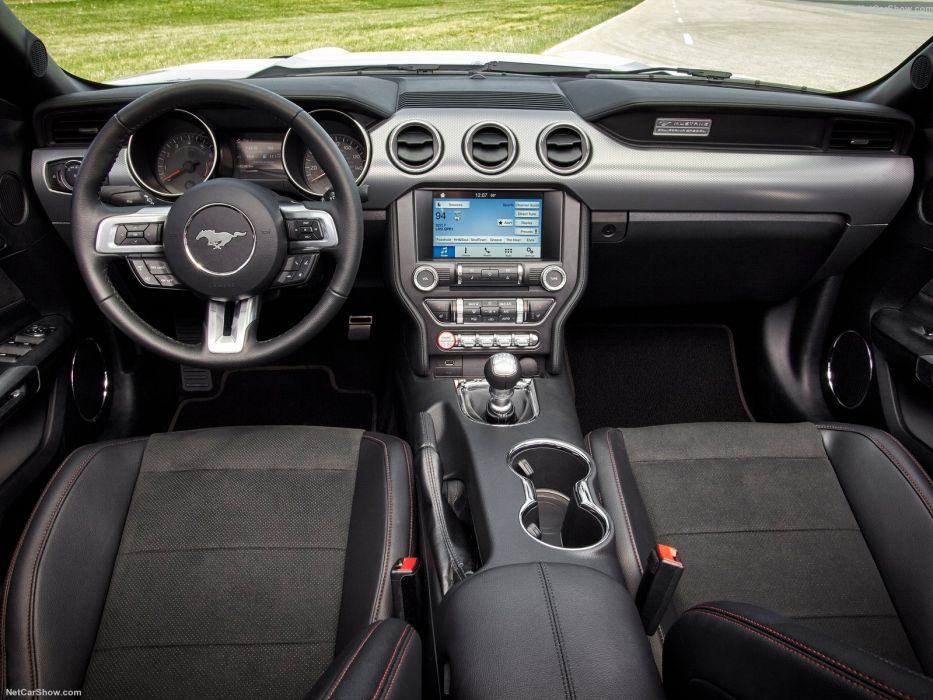 Ford Mustang gt 2016 coupe cars interior wallpaper