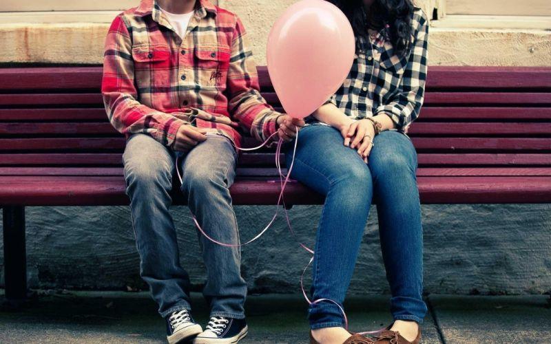love mood couple balloon girl boy wallpaper