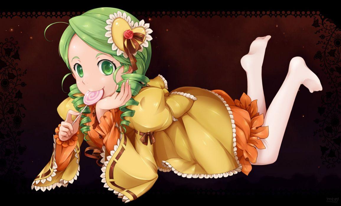 anime girl cute candy dress wallpaper