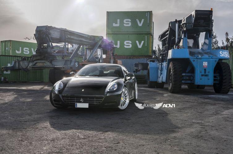 ADV 1 WHEELS GALLERY FERRARI 612 SCAGLIETTI 2+2 cars black wallpaper