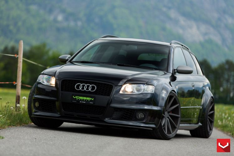 vossen WHEELS GALLERY Audi RS4 cars wagon black wallpaper