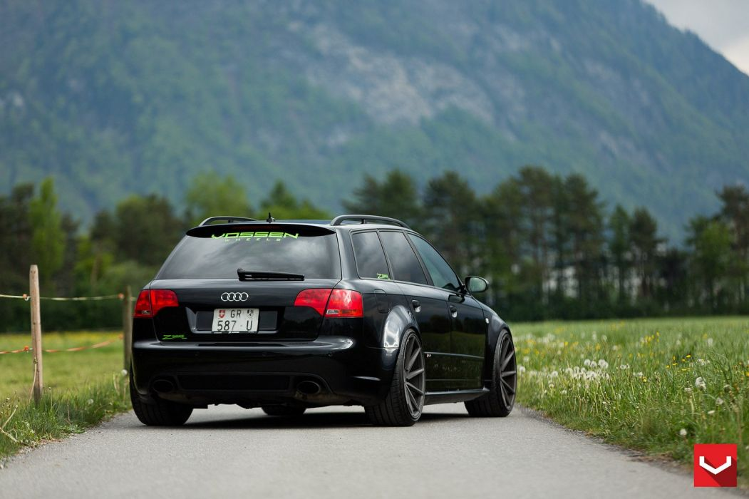 vossen WHEELS GALLERY Audi RS4 cars wagon black wallpaper