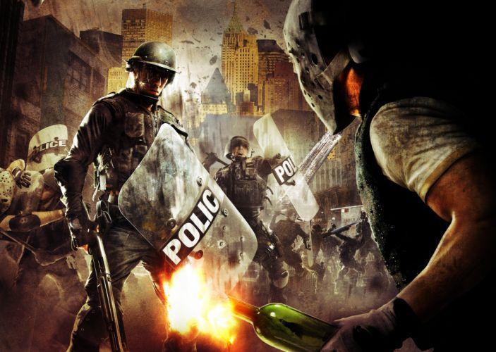 URBAN CHAOS action adventure fighting police anarchy sci-fi 1urbanc sandbox crime wallpaper