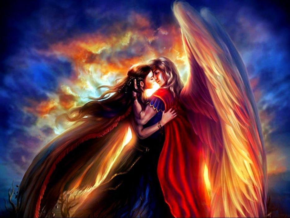 fantasy artwork love mood men women girl girls woman man art wallpaper