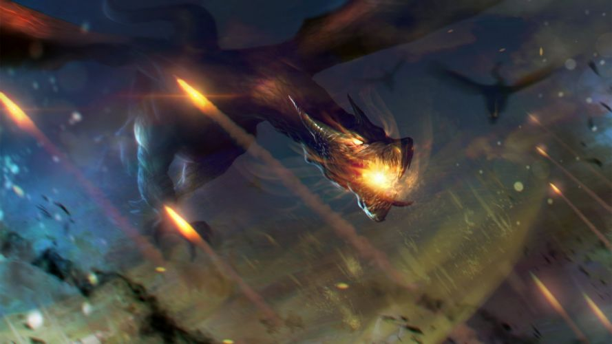 fantasy dragon art artwork wallpaper