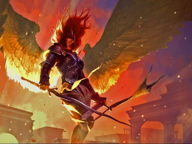MAGIC GATHERING fantasy artwork art adventure action fighting trading card board wallpaper