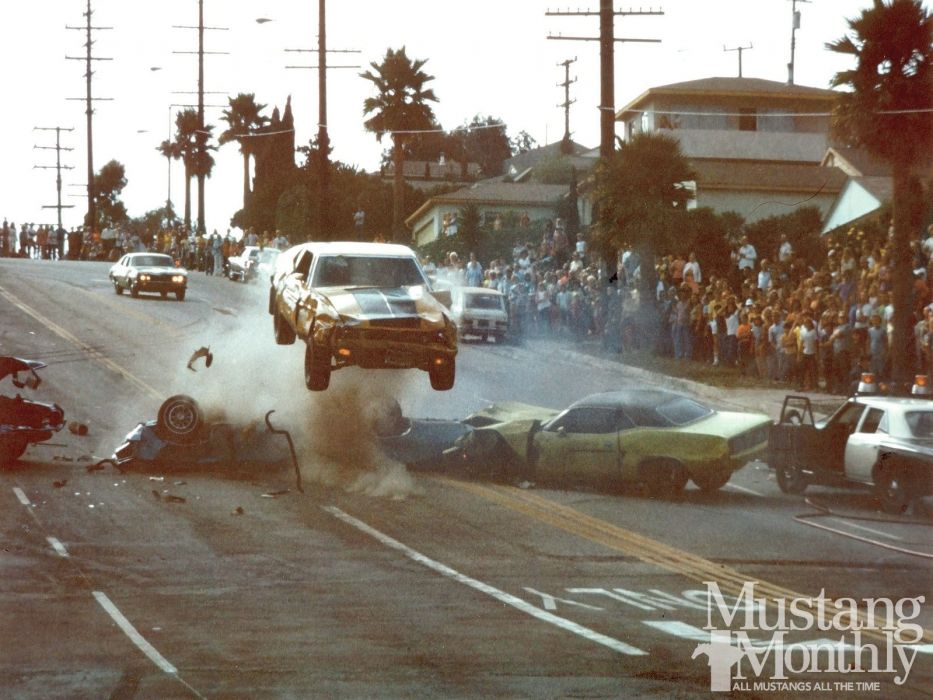 1973 Ford Mustang 1974 Movie Scene Gone in 60 Seconds USA 1600x1200-01 wallpaper