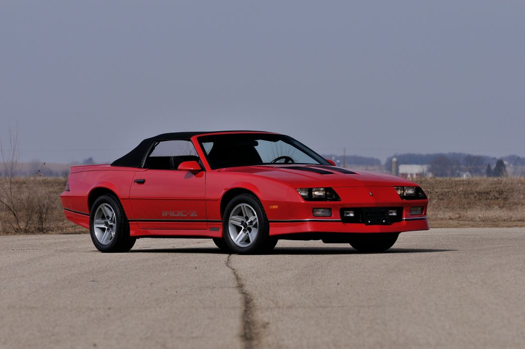 1987 Chevrolet Camaro Z28 Convertible Muscle Classic Original Red USA 4288x2848-01 wallpaper