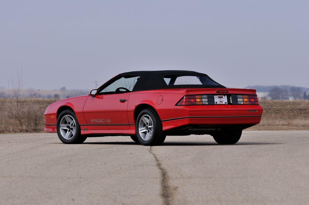 1987 Chevrolet Camaro Z28 Convertible Muscle Classic Original Red USA 4288x2848-03 wallpaper